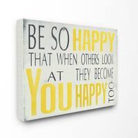 Stupell 'Be So Happy' Canvas Wall Art