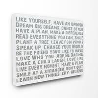 Stupell 'Like Yourself' Canvas Wall Art