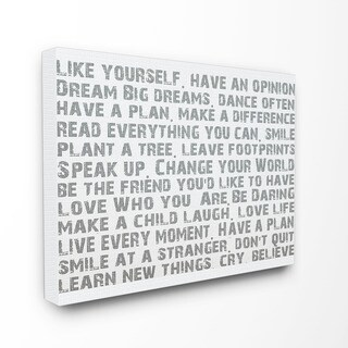 Stupell 'Like Yourself' Canvas Wall Art