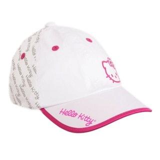 Hello Kitty Sports Premier Collection White/ Magenta Script Hat