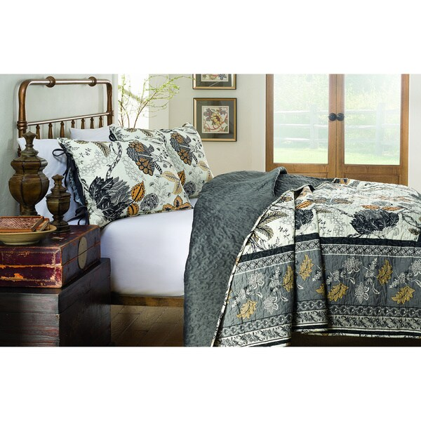 214 West Velvet Kera 3-piece Quilt Set