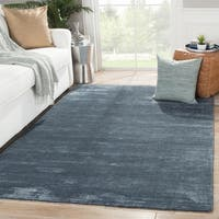 Phase Handmade Solid Dark Blue Area Rug (9' X 12') - 9' x 12'