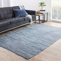 Havenside Home Bandon Handmade Solid Blue Area Rug - 8' x 10'