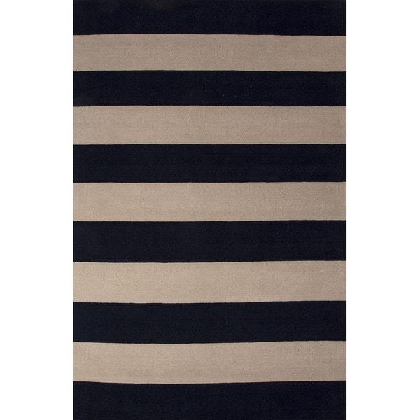 Handmade Stripes Blue Area Rug (8u0026#39; X 10u0026#39;) - Free Shipping ...