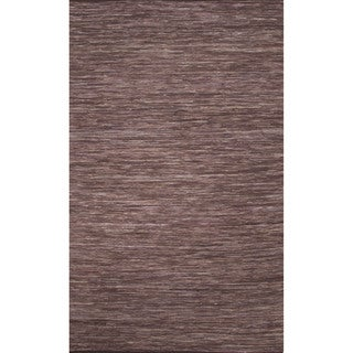 Handmade Casual Solid Pattern Deep taupe/ Deep taupe (2' x 3') Area Rug