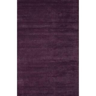 Handmade Solid Purple Area Rug (2' X 3')