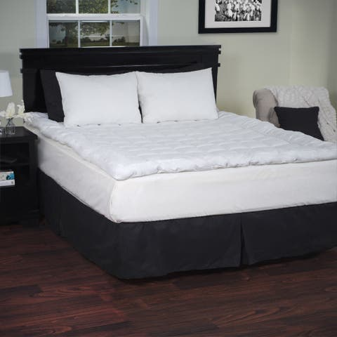 Windsor Home Down Alternative Hypoallergenic 3 Inch Mattress Topper - White