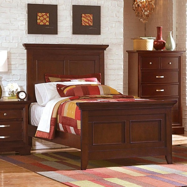 Ashton Traditional Deep Cherry Twin Bed By Tribecca Home