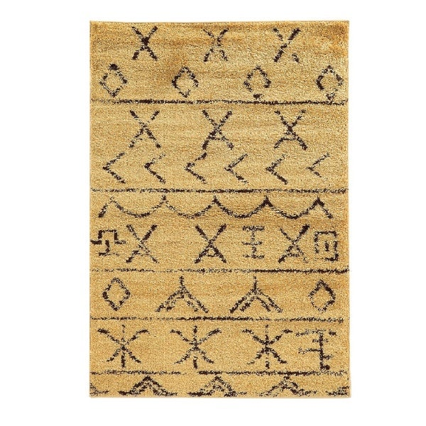Shop Linon Moroccan Mekenes Camel Brown Rug: Shop Linon Moroccan Atlas Camel/Brown Rug (3' X 5')