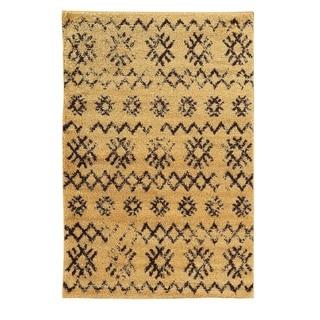 Linon Moroccan Mekenes Camel/Brown Rug (3' x 5')