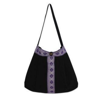 Handcrafted Cotton 'Thai Life' Shoulder Bag (Thailand)