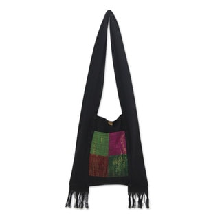 Handmade Cotton 'Thai Jewel' Shoulder Bag (Thailand)