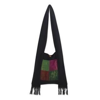 Handmade Cotton 'Thai Jewel' Shoulder Bag (Thailand)