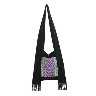 Handcrafted Cotton 'Thai Twilight' Shoulder Bag (Thailand)