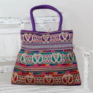 Embellished 'Festively Purple' Shoulder Bag (India)