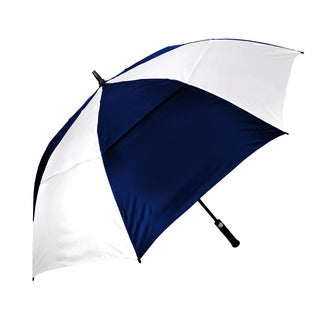 Orlimar Cyclone 62 inch Golf Double Canopy Auto Open Umbrella Navy/ White