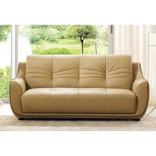 shop luca home contemporary grey leather match sofa free shipping rh overstock com synthetic leather sofa reviews synthetic leather sofa cleaning