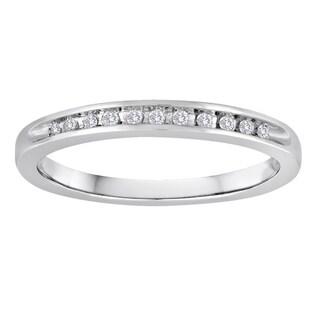Sterling Silver 1/10ct TDW Diamond Wedding Band