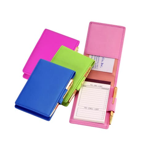 Royce Leather Genuine Leather Executive Flip Style Note Jotter