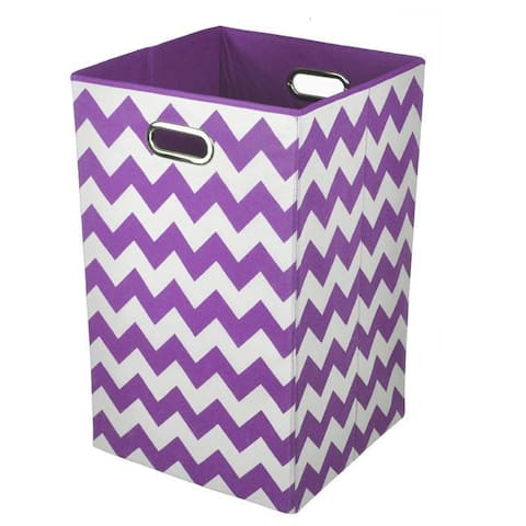 Color Pop Purple Chevron Laundry Bin