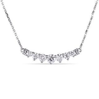 Miadora 14k White Gold 3/4ct TDW Diamond Necklace (G-H, I1-I2)