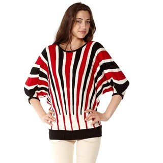 Juniors' Stripe Knit Pullover Sweater