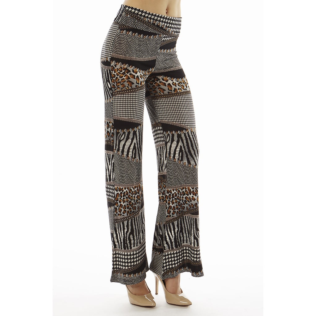 0cac5dc2105da6 Shop Women's Printed High Waisted Animal Print Foldover Wide Leg Palazzo  Pants - Free Shipping On Orders Over $45 - Overstock - 10136736