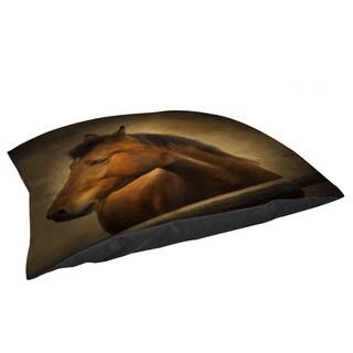 Thumbprintz Chestnut Horse at Fence Fleece Pet Bed