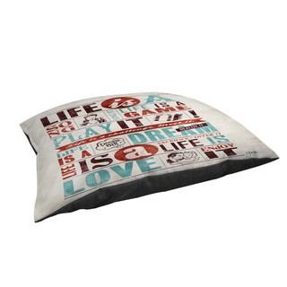 Life Is Indoor/ Outdoor Pet Bed