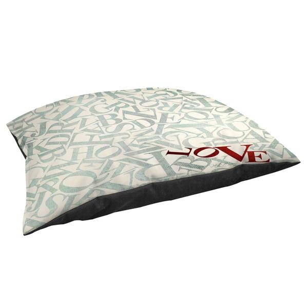 Love Alphabet Jumble Fleece Pet Bed