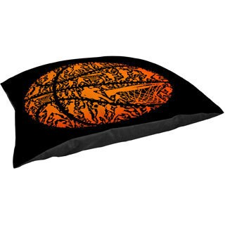 Basketball Sports Silhouettes Fleece Pet Bed