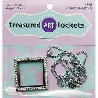 1/Pkg Silver Diamond Jewelry Locket