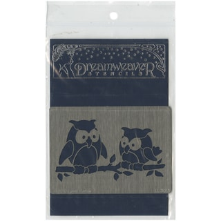 Dreamweaver Metal Stencil 4inX6.75inOwl Pair