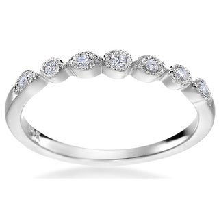 SummerRose 14k White Gold 1/10ct TDW Diamond Fashion Ring