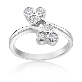 SummerRose 14k White Gold 2/5ct TDW Diamond Fashion Ring