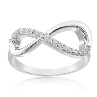 SummerRose 14k White Gold 1/6ct TDW Diamond Infinity Ring