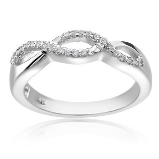 SummerRose 14k White Gold 1/5ct TDW Diamond Fashion Ring