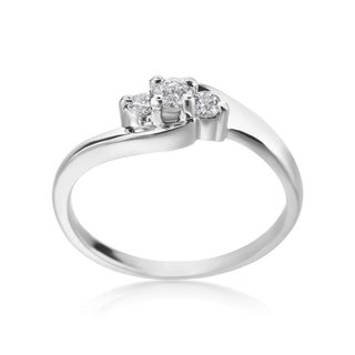 SummerRose 14k White Gold 1/5ct TDW Diamond 3-stone Ring