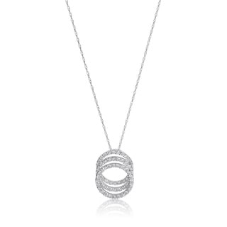 SummerRose 14k White Gold 3/5ct TDW Diamond Triple Loop Necklace (H-I, SI1-SI2)