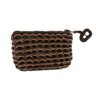 Handcrafted Soda Pop-top 'Bronze Hope and Change' Coin Purse (Brazil)