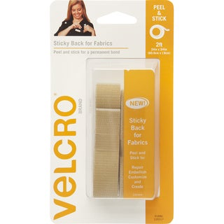 VELCRO(R) Brand STICKY BACK For Fabric Tape .75inX24inBeige