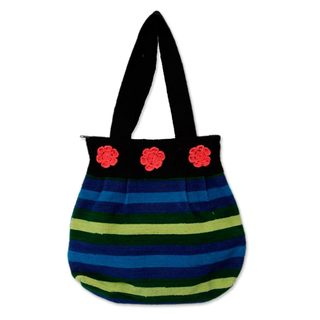 Handcrafted Wool 'Andean Sky' Shoulder Bag (Peru)