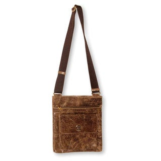 Handmade Leather 'Mancora Traveler' Messenger Bag (Peru)
