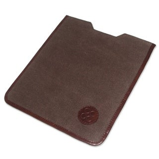 Handmade Cotton Leather Accent 'Trujillo on the Go' Tablet Sleeve (Peru)