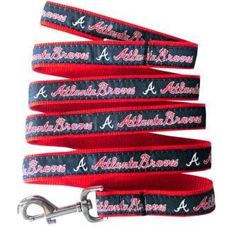 Genuine 2-piece MLB Atlanta Braves Licensed Pet Collar and Leash Combo Set