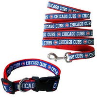Genuine 2-piece MLB Chicago Cubs Licensed Pet Collar and Leash Combo Set