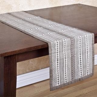 Ochre Patterned Handmade Table Runner (India)