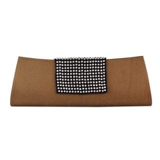 Handmade Beaded 'Golden Allure' Clutch Handbag (India)