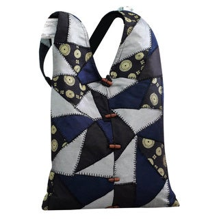 Patchwork 'Golden Triangular Constellations' Shoulder Bag (India)