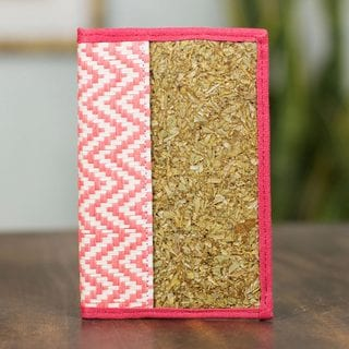 Natural Fibers 'Mexican Pink' Passport Holder (Mexico)
